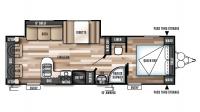 2017 Wildwood X-Lite 254RLXL Floor Plan