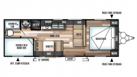 2018 Wildwood X-Lite 261BHXL Floor Plan