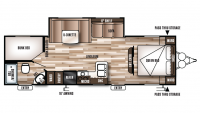 2018 Wildwood X-Lite 263BHXL Floor Plan