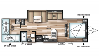 2018 Wildwood X-Lite 273QBXL Floor Plan