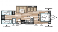 2018 Wildwood X-Lite 282QBXL Floor Plan