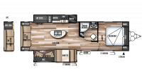 2017 Wildwood 27REI Floor Plan