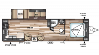 2018 Wildwood 27RKSS Floor Plan