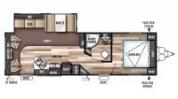 2018 Wildwood 27RLSS Floor Plan