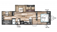 2017 Wildwood 30KQBSS Floor Plan