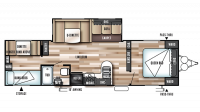 2017 Wildwood 30QBSS Floor Plan