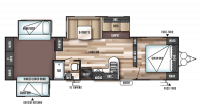 2019 Wildwood 31KQBTS Floor Plan