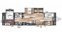 2018 Wildwood 36BHBS Floor Plan