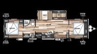 2019 Wildwood 37BHSS2Q Floor Plan