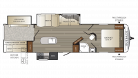 2019 Outback 325BH Floor Plan