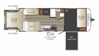 2017 Outback Ultra Lite 240URS Floor Plan