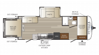 2018 Outback Ultra Lite 250URS Floor Plan