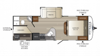 2017 Outback Ultra Lite 255UBH Floor Plan