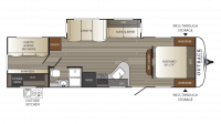 2018 Outback Ultra Lite 293UBH Floor Plan