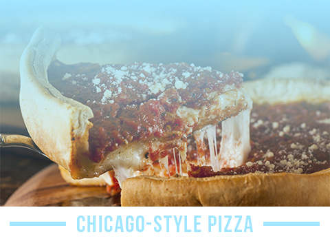 Don't forget to try Chicago-style pizza while in the windy city!