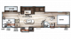2017 Cherokee 304BH Floor Plan