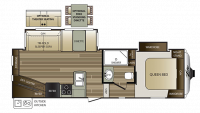 2018 Cougar Xlite 25RES Floor Plan
