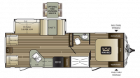 2018 Cougar Xlite 28RLS Floor Plan