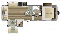 2018 Cougar Xlite 28SGS Floor Plan