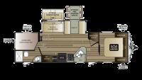 2018 Cougar Xlite 29BHS Floor Plan
