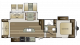 2018 Cougar Xlite 29RLI Floor Plan
