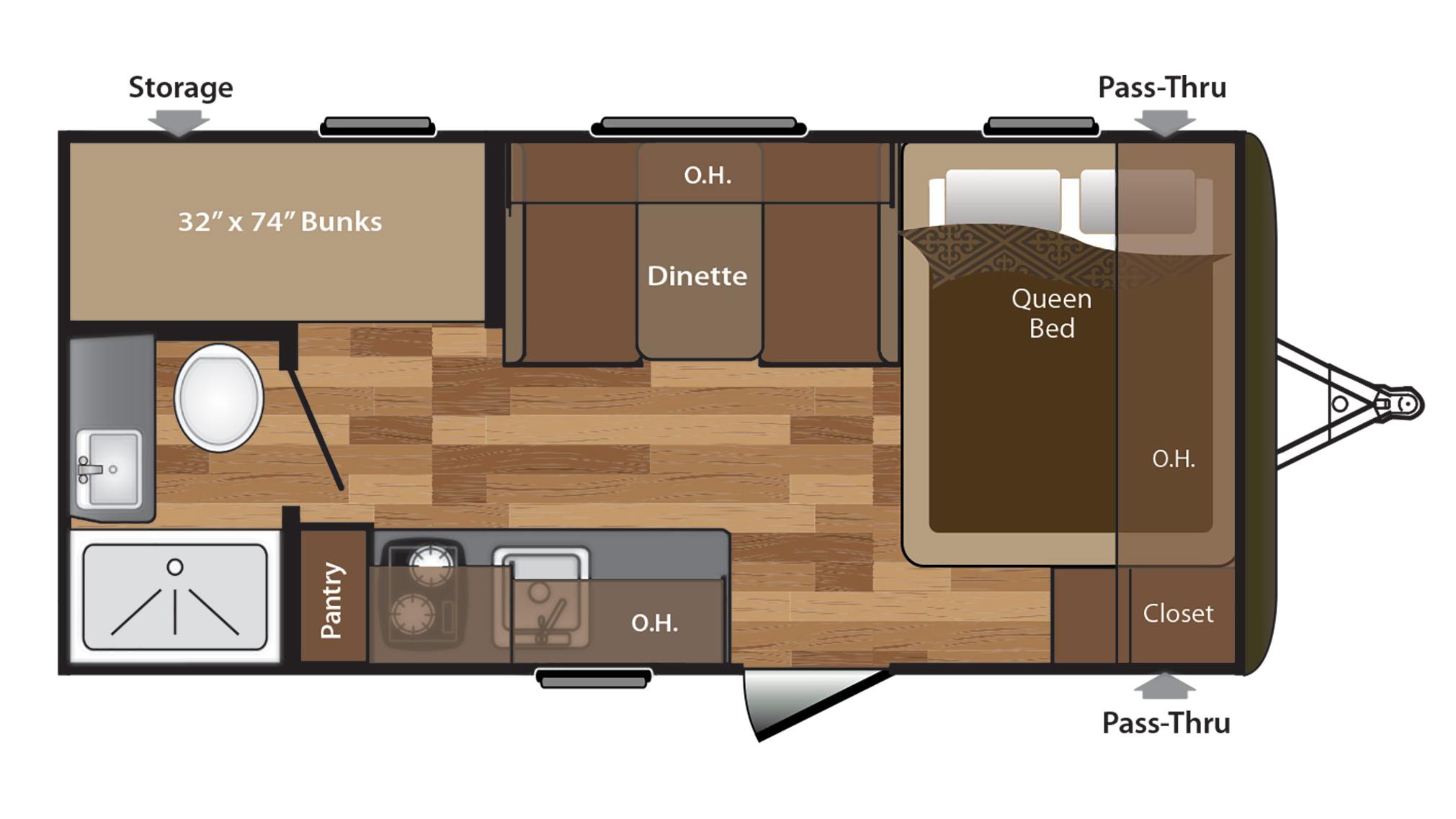 keystone hideout 175lhs travel trailer for sale