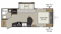 2018 Passport Elite 23RB Floor Plan