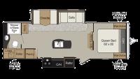 2018 Passport Elite 27RB Floor Plan