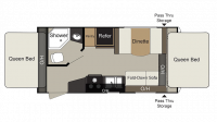 2019 Passport Express 171EXP Floor Plan