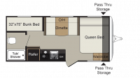 2018 Passport Express 175BH Floor Plan