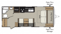 2019 Passport Express 195RB Floor Plan