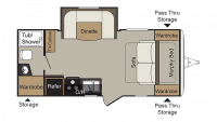 2018 Passport Express 199ML Floor Plan