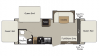 2019 Passport Express 217EXP Floor Plan