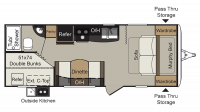 2018 Passport Express 239ML Floor Plan