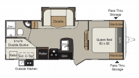 2019 Passport Grand Touring 2400BH Floor Plan
