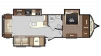 2019 Sprinter Limited 319MKS Floor Plan