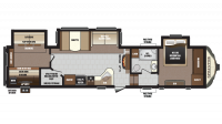 2018 Sprinter Limited 324FWBHS Floor Plan