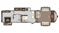 2018 Sprinter Limited 334FWFLS Floor Plan