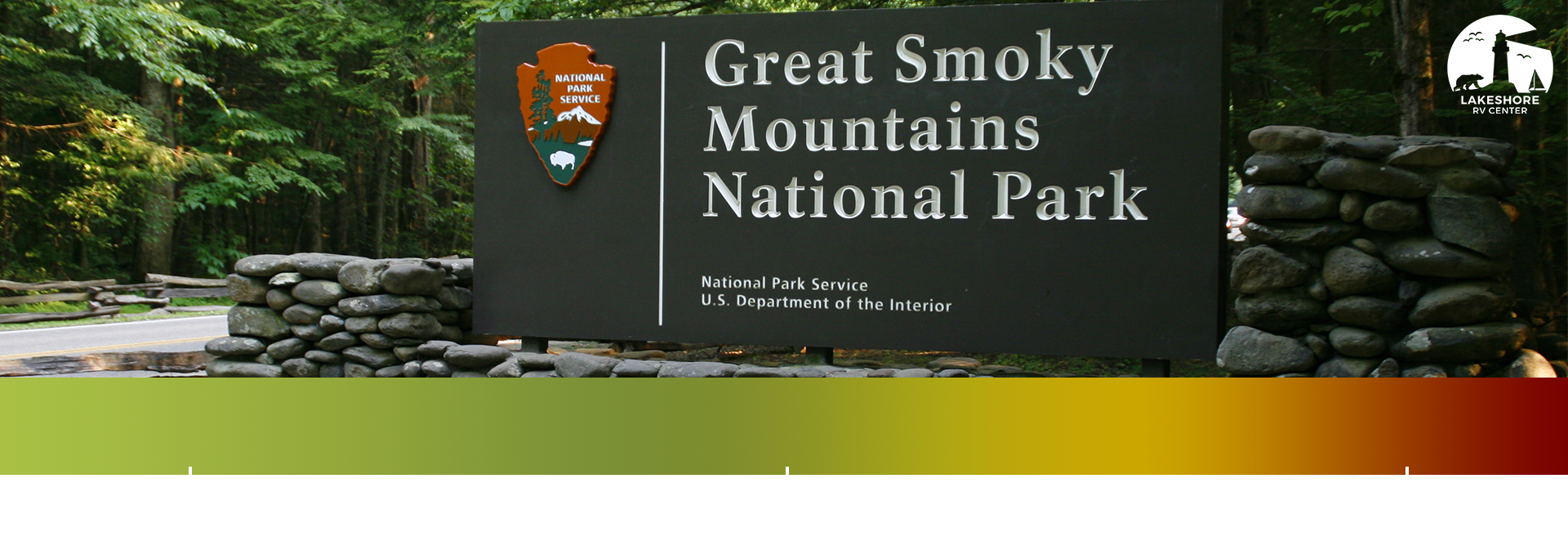 national park sign and scale