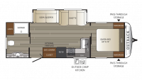2019 Outback 266RB Floor Plan