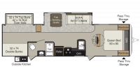 2015 Passport Elite 33 BH Floor Plan
