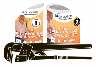 Dicor's two-step Rubber Roofing Coating System