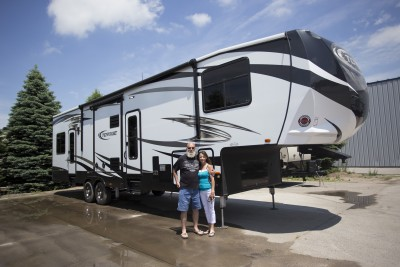 Carl Beougher at Lakeshore RV with their Torque TQ365