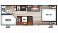 2019 Grey Wolf 22MKSE SPECIAL EDITION Floor Plan