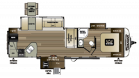 2018 Cougar Half Ton 33MLS Floor Plan