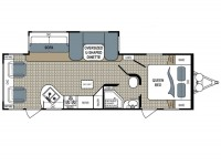 2015 Kodiak Ultimate 263RLSL Floor Plan
