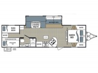 2015 Kodiak Ultimate 290BHSL Floor Plan