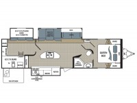 2015 Kodiak Ultimate 300BHSL Floor Plan