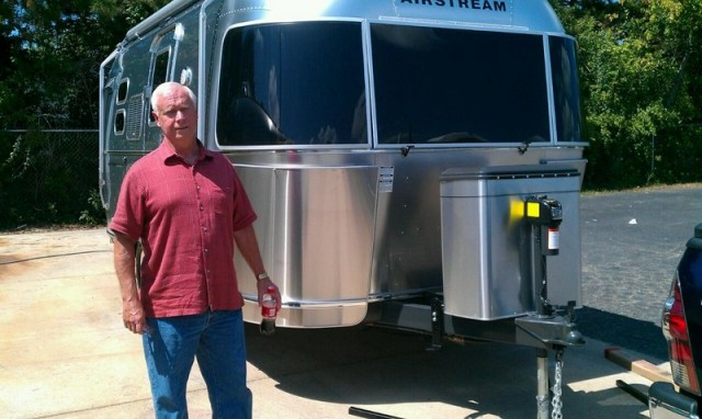 Mike of Brunswick with their Airstream Flying Cloud 20CNB