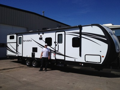 Christopher Hill of Ferndale, OR with their SolAire Ultra Lite 267BHSK